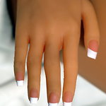 Finger nails with Pink French Manicure